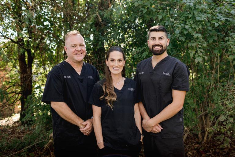 the 3 ephrata dentists at harvest dental smiling